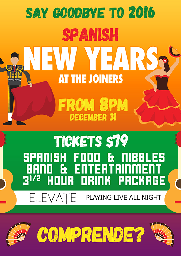 Spanish New Years at the Joiners